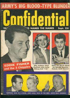 Confidential, September 1956. (Eddie Fisher)