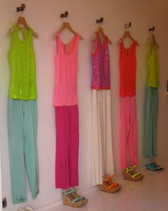 Laidback luxe atP.A.R.O.S.H.: relaxed pastels teamed with sequins and Ibiza brights. WGSN store shot, Ibiza