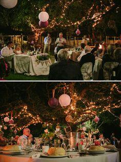 An Outdoor Fairy Light Wedding
