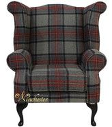Chesterfield Edward Queen Anne Wool Tweed Wing Chair Fireside High Back Armchair Beningborough Graphite Check Fabric, Laura Ashley, Living Room… White Dinning Chairs, Leather Dining Room Chairs, Winged Armchair, Blue Armchair, High Back Armchair, High Back Chairs, Bean Bag Chairs Canada, Sofa Design, Furniture Design