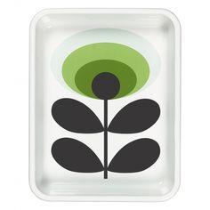 Orla Kiely House 70s Flower Oval Green Enamel Roaster