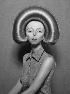 "3.22 pm, Friday 13th 1959: succumbing to the fad for hairsyles based on children's toys, Gwenda opted for ""The Slinky"""