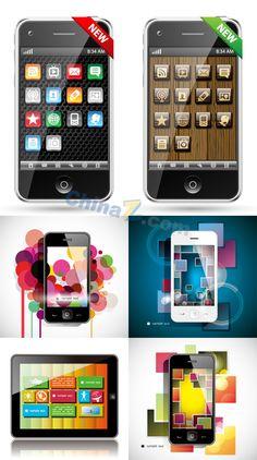 Smart phone vector material