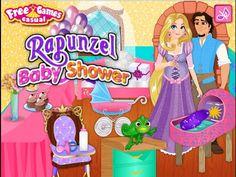 Tangled Rapunzel Baby Shower - Disney Princess Rapunzel Games