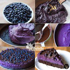 Kuchařka ze Svatojánu: BORŮVKOVÝ DORT Food Inspiration, Sweet Recipes, Sweet Tooth, Cheesecake, Pudding, Sweets, Cookies, Chocolate, Healthy
