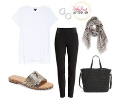 Nordstrom House Brands - 5 Comfy, Casual Looks – White Casual, Comfy Casual, Casual Looks, Smart Casual, Sporty Outfits, White Outfits, Lace Tee, Spring Fashion Trends