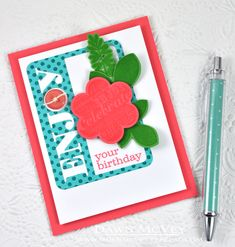Enjoy Your Birthday Card by Dawn McVey for Papertrey Ink (May 2014)