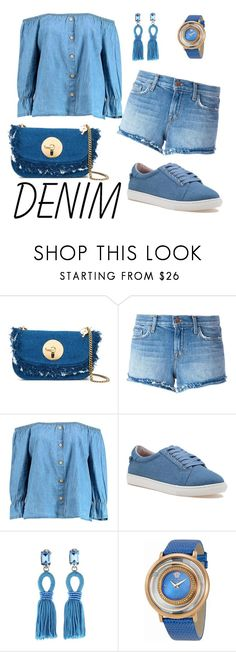 """Untitled #12"" by nisal ❤ liked on Polyvore featuring See by Chloé, J Brand, Boohoo, J/Slides, Oscar de la Renta and Versace"