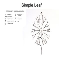 Crochet Leaf - Chart ❥ 4U // hf, thanks so for share xox