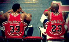 Michael Jordan and Scottie Pippen.