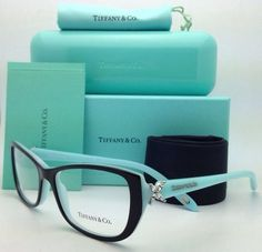 *NEW* TIFFANY & CO. TF2044B 8055 TOP BLACK/BLUE EYEGLASS FRAME *100% AUTHENTIC*