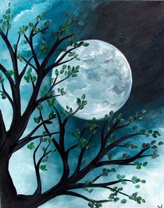 Ay resmi Watercolor Illustration, Watercolor Art, Night Sky Painting, Oil Pastel Art, Beautiful Fantasy Art, Shadow Art, Beginner Painting, Moon Art, Acrylic Art