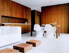 wood veneered walls