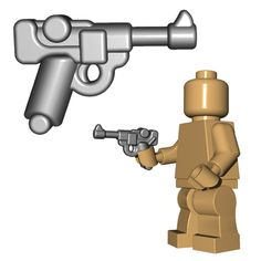 This custom LEGO® gun is the standard issue pistol for your German WW1 and WW2 Minifigurearmies.