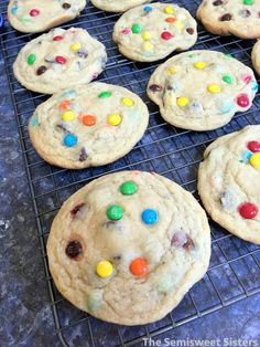 Soft Chewy Chocolate Chip M&M Cookies
