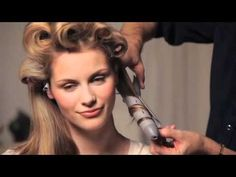 retro waves made with a curling iron
