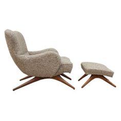 Vladimir Kagan lounge chair & ottoman - Ralph Pucci showroom