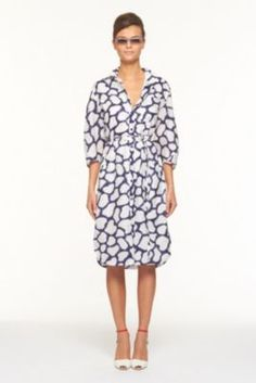 DVF | Sophie Dress In Shibori Giraffe, Spring 2012: Beginnings