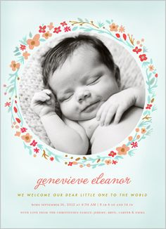 Sweet Wreath Girl 5x7 Stationery Card by Other Designers | Shutterfly