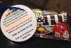 M&M's for Thank an Officer day