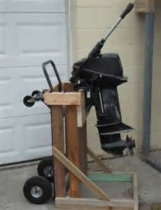 Looking for outboard motor stand plans for v6 sidewinder for Large outboard motor stand