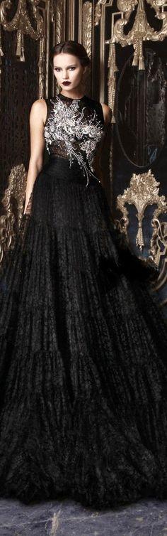 10 Most Beautiful Long Black Dresses From RAMI KADI