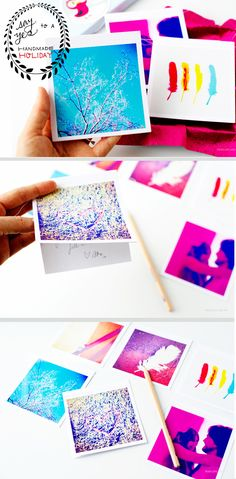 Instagram Photo Cards / 49 Awesome DIY Holiday Cards