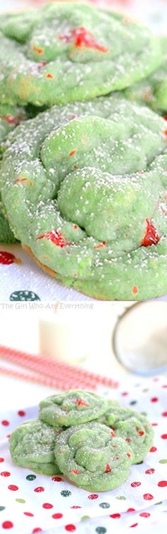 These Pistachio Cherry Meltaways are soft and chewy with a sweet pistachio flavor. Cookie Desserts, Holiday Desserts, Holiday Baking, Christmas Baking, Holiday Recipes, Dessert Recipes, Cherry Cookie Recipes, Italian Cookie Recipes, Cherry Cookies
