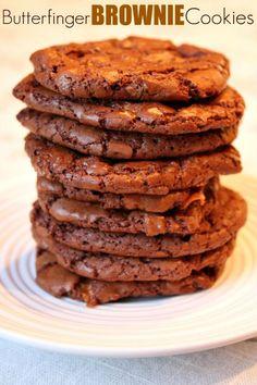 Butterfinger Brownie Cookies 4