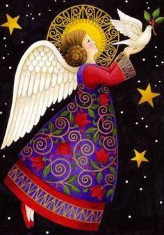 New Painting Christmas Angels Ideas Vintage Christmas Cards, Christmas Images, Christmas Angels, Christmas Art, I Believe In Angels, Christmas Illustration, Angel Illustration, Guardian Angels, Angel Art