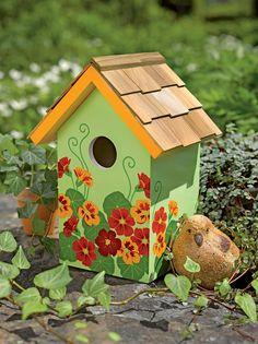 Floral Print Birdhouse