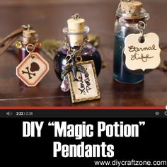 "Please Share This Page: DIY ""Magic Potion"" PendantsPhoto – http://www.youtube.com/watch?v=LHK3GkgGeXI When you think of magic potions, you probably imagine witches brewing all kinds of spooky ingredients in their bubbling cauldrons. This video by WonderlandWardrobe will teach you how to make unique (and quite harmless) magic potion pendants that will create a mysterious and cool, gothic …"