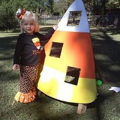 View this Halloween Tutorial   Candy Corn Bean Bag Toss {Halloween Party Games for Kids}  A bean bag toss is a great game for a family party because all ages can play.  Making it more challenging is as easy as having the players take a step back.  This candy corn version is perfect for your Fall party.   Created by: Life with Mollye
