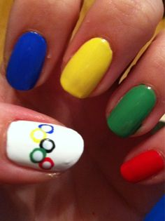 #Nails by: @mrsmanpolish ,I'm a huge lover of the Olympics
