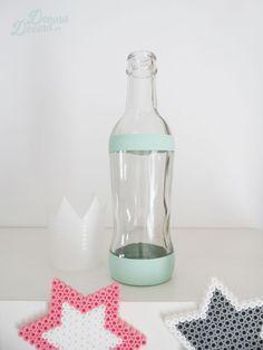 Decorar una botella con chalk paint.