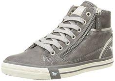 Mustang 1209-502, Damen Hohe Sneakers, Grau (2 grau), 39 EU (5.5 Damen UK)