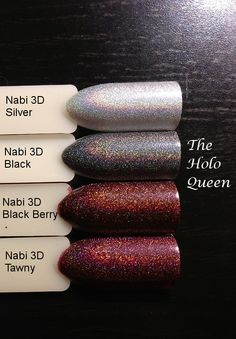 The Holo Queen: Nabi 3D Hologram Collection: Nail Swatch Sticks