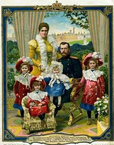 "A post card of rhe warly 1900 of the Imperial Royal family. ""AL"""