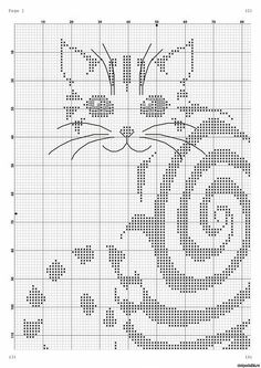 nice cat to cross stitch- site is not in English, but only two colors from what I can see.