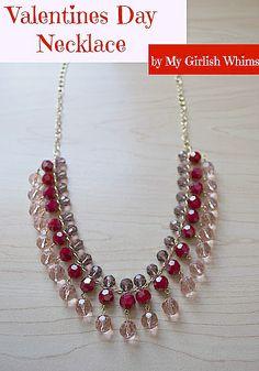 valentine drop necklace
