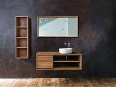 Modern Bathroom Cabinets, Wooden Bathroom, Hall Bathroom, Bathroom Interior, Bathroom Ideas, Wooden Vanity Unit, Washbasin Design, Shelving Design, Amazing Bathrooms