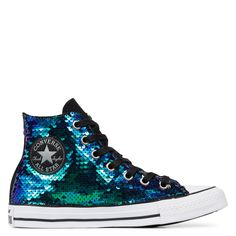 7afc0f0dd9b2 Chuck Taylor All Star Sequins High Top Black Multicolor Reversible Se  Chaussures Col Haut Noires