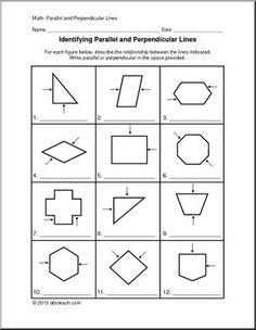 perpendicular parallel and intersecting lines worksheets education pinterest worksheets. Black Bedroom Furniture Sets. Home Design Ideas