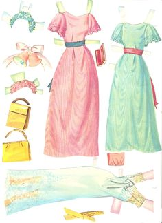 A Whitman paper doll set that is wedding themed. The date is 1967. There are four dolls and outfits for ...