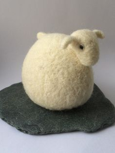 Needle felted lamb. Felted animal. Cute wool by FlorasWeeFelts