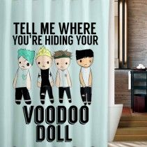 5 Seconds Of Summer VooDoo Cover Shower Curtain