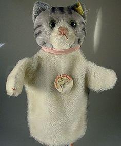 Steiff Handpuppe Katze um 1960 (33688)