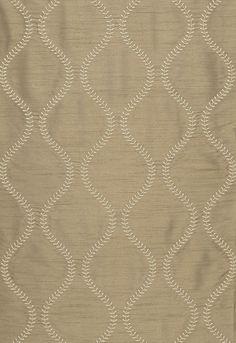 Fabric   Agadir Embroidery in Chanterelle   Schumacher