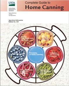 USDA Complete Guide to Home Canning - links too all sections of the book.