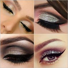 For a night party, try dynamic shadows and dark liners to highlight the shape of your eyes.